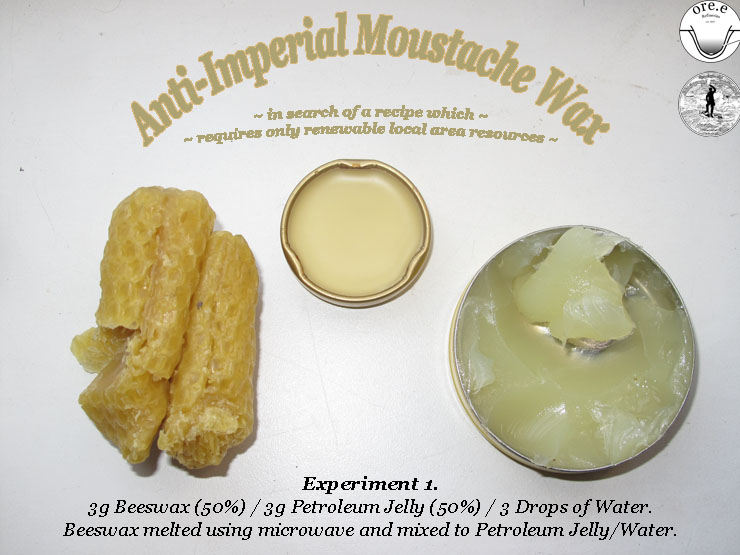 Anti-Imperial Moustache Wax Experiment 1